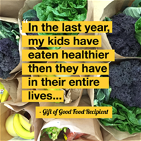 Gift of Good Food Testimonial Tuesdays Dec 13 2016